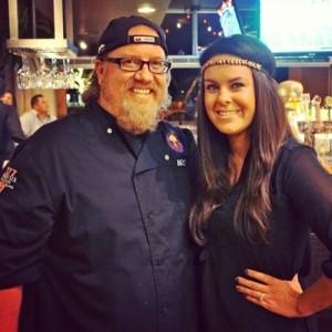Finally meeting Chef Michael O'Dowd!