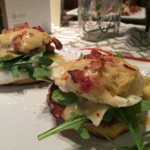 Puffin Egg Benedict Sandwich