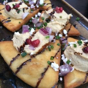 Hummus Nachos at Salut Kitchen Wine Bar